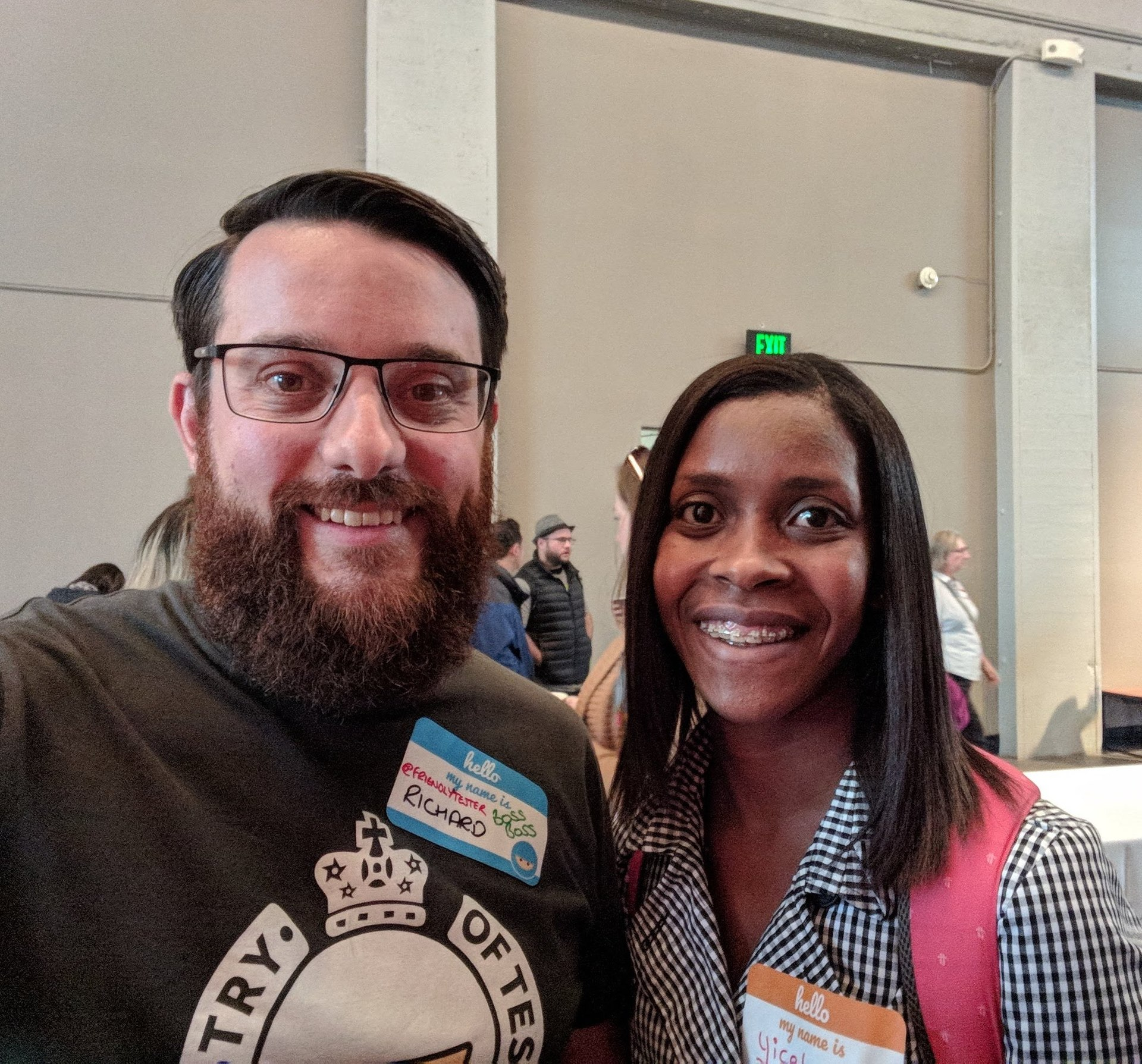 Yicela and Richard at TestBash San Francisco