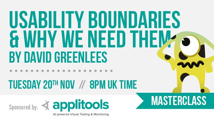 7 david greenlees masterclass   usability boundaries dojo