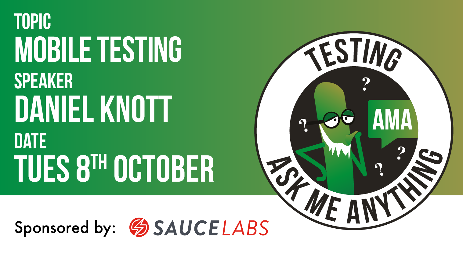 Testing Ask Me Anything - Mobile Testing - Daniel Knott, starts: 2019-10-08