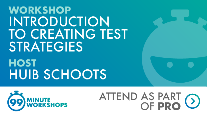 Introduction to Creating Test Strategies, starts: 2020-11-25