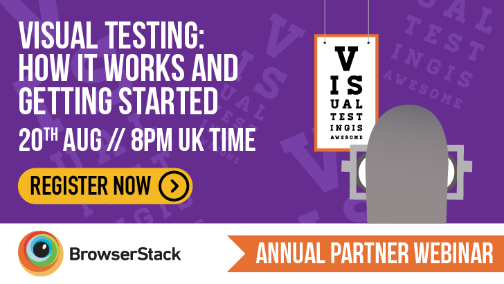 Visual testing: How it works and getting started with Mike Fotinakis, starts: 2020-08-20