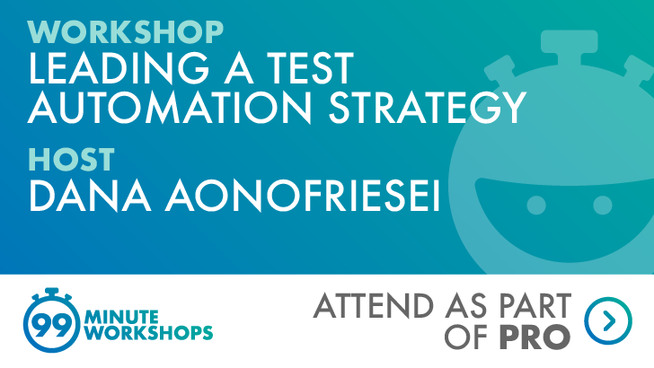 Leading a test automation strategy - 09 September 2020 (New York, US Timezone), starts: 2020-09-09