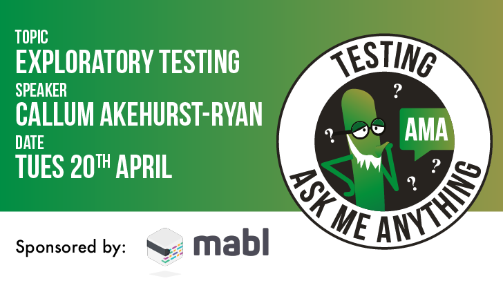Testing Ask Me Anything - Exploratory Testing, starts: 2021-04-20