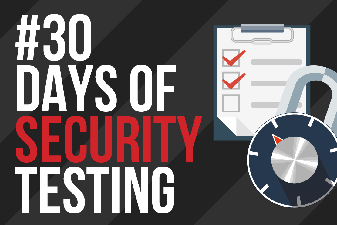 30 Days of Security Testing