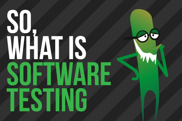 So, What Is Software Testing?