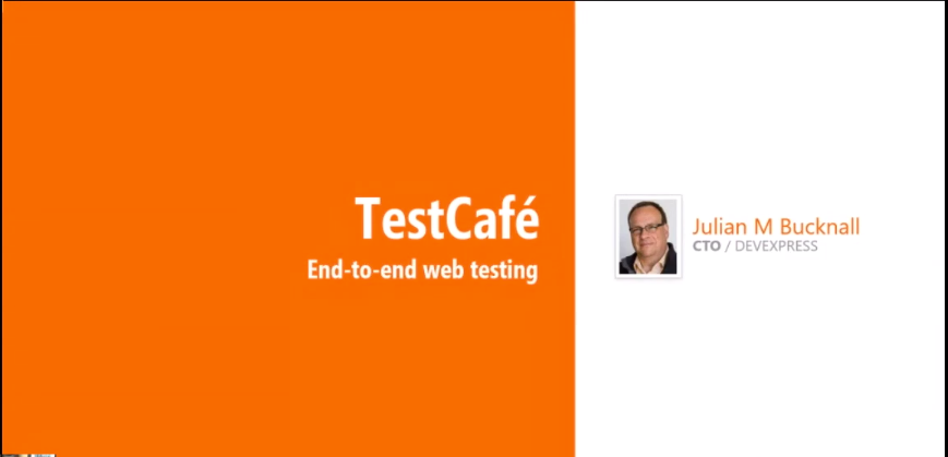 End-to-end web testing - TestCafé - Julian M Bucknall