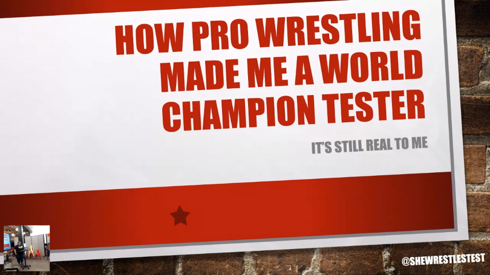 How Pro Wrestling Made Me A World Champion Tester - Jenna Charlton