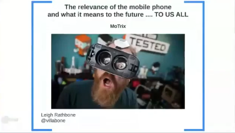 The MoTrix Reloaded - The future tech, and what it means for testing with Leigh Rathbone