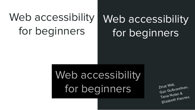 Accessibility for beginners with Elizabeth Fiennes