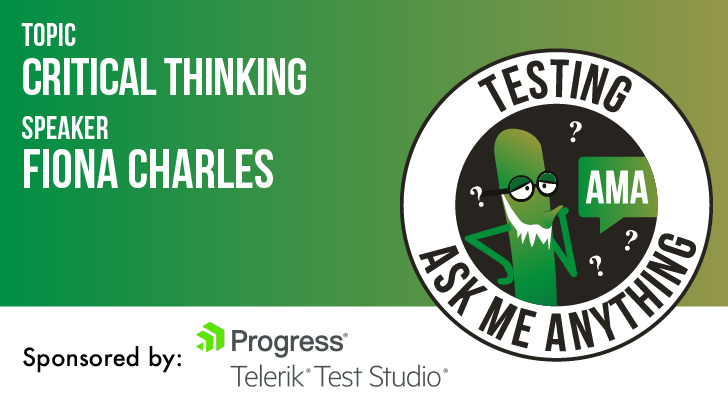 Testing Ask Me Anything - Critical Thinking - Fiona Charles