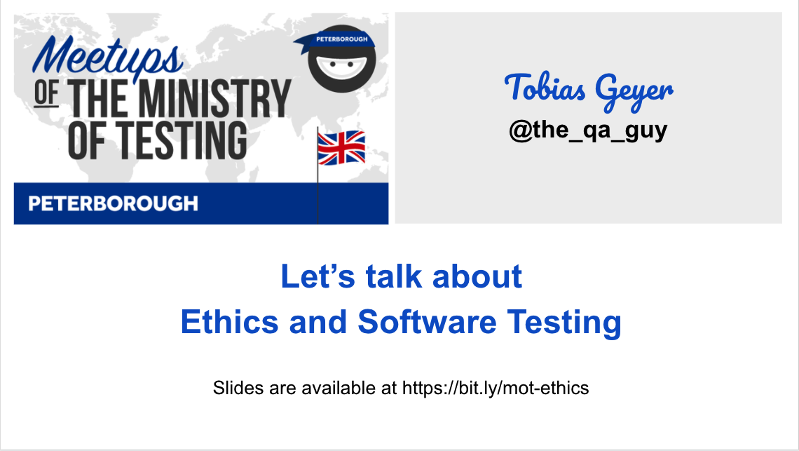 Let's talk about ethics and software development - Tobias Geyer
