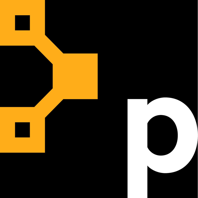 P icon amber white lg