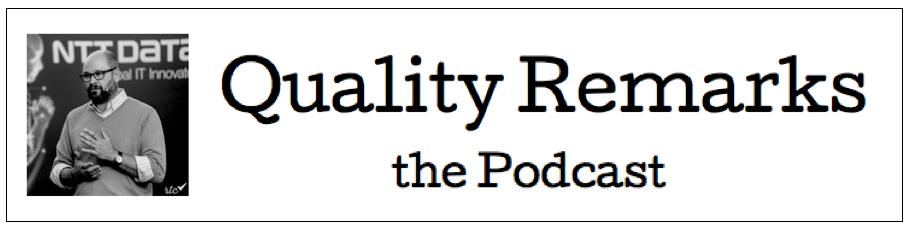 Qr podcast logo